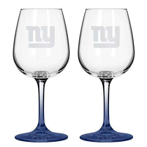 Boelter Brands New York Giants 12 oz. Wine Glasses 2-Pack