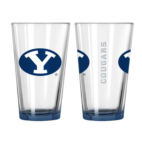 Boelter Brands Brigham Young University Elite 16 oz. Pint Glasses 2-Pack