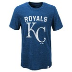 Majestic Boys' Kansas City Royals Hours and Hours Short Sleeve Slub T-shirt