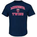 Majestic Men's Minnesota Twins Heart and Soul T-shirt - view number 1