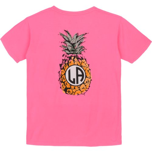 Royce Juniors' State Pride Louisiana Pineapple Monogram T-shirt