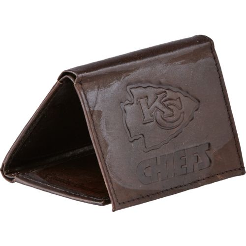 Rico Men's Kansas City Chiefs Embossed Trifold Wallet
