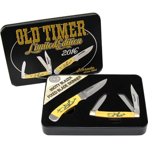 Old Timer 2016 Limited Edition Collector's Scrimshaw Knife Set