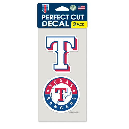 WinCraft Texas Rangers Perfect Cut Decals 2-Pack