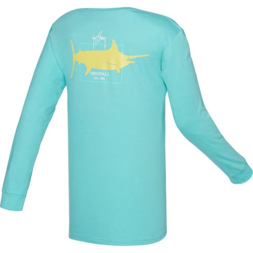 Guy Harvey Men's Logo Long Sleeve T-shirt