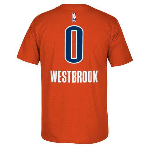 adidas Men's Oklahoma City Thunder Russell Westbrook No. 0 Game Time High Density T-shirt