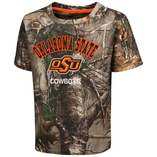 Colosseum Athletics™ Toddler Boys' Oklahoma State University Blacktail Camo T-shirt