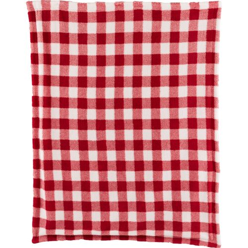 Northwest Trails Plaid Sherpa Queen-Size Blanket