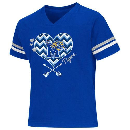 Colosseum Athletics Girls' University of Memphis Football Fan T-shirt