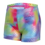 Capezio® Girls' Future Star Geo Foil Printed Short