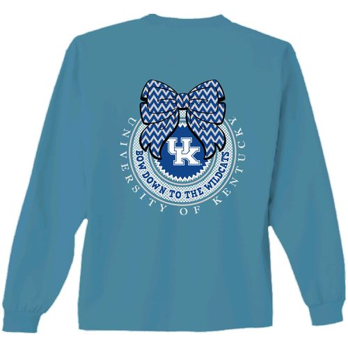 New World Graphics Women's University of Kentucky Ribbon Bow Long Sleeve T-shirt
