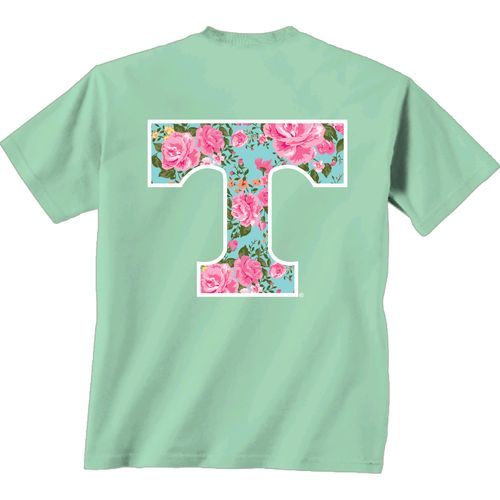 New World Graphics Women's University of Tennessee Floral T-shirt
