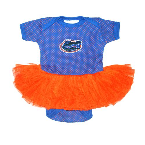 Two Feet Ahead Infant Girls' University of Florida Pin Dot Tutu Creeper - view number 1