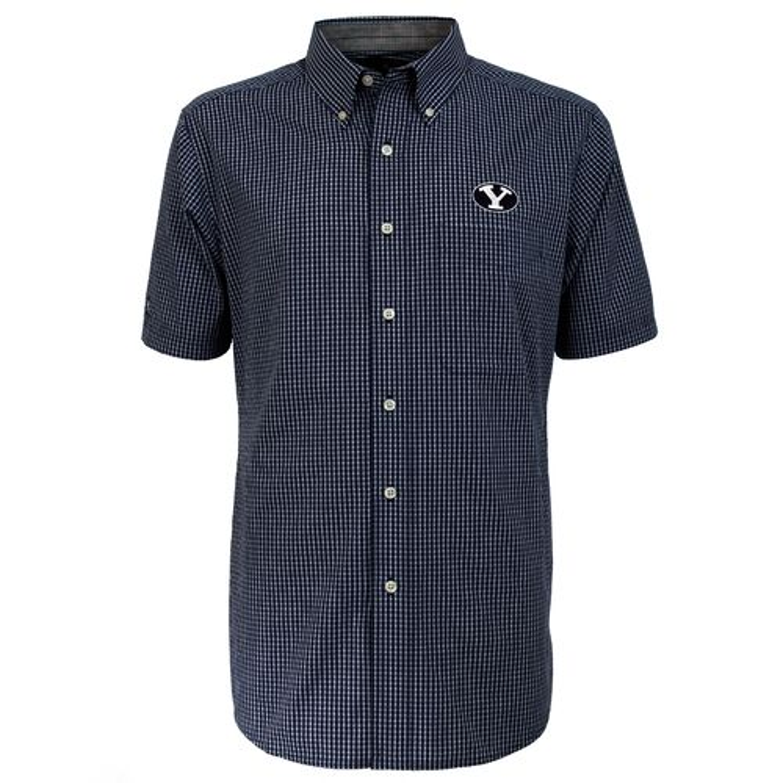 Antigua Men's Brigham Young University League Short Sleeve Shirt