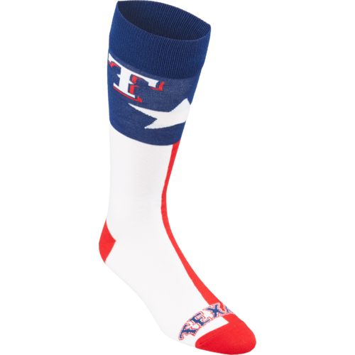 FBF Originals Adults' Texas Rangers Argyle Zoom Dress Socks