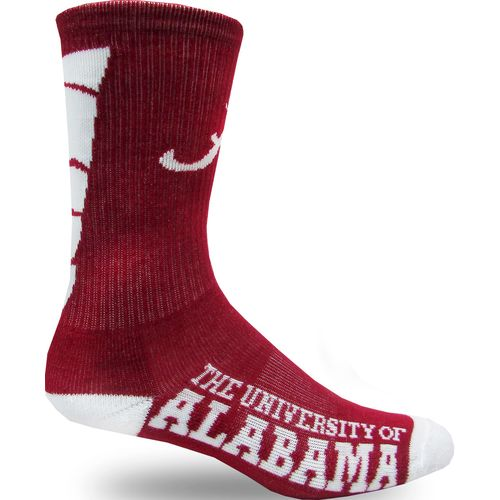 Topsox Boys' University of Alabama V-stripe Crew Socks