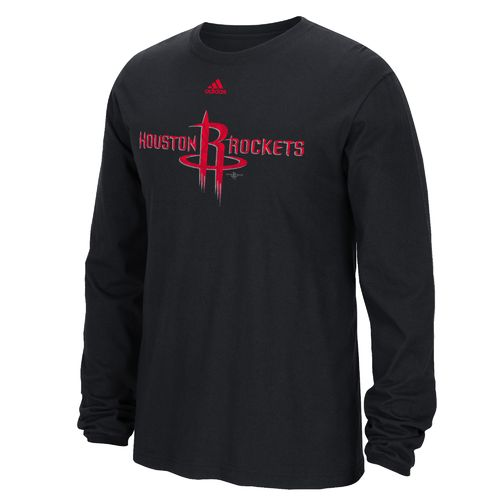 adidas™ Men's Houston Rockets Cut the Net Long Sleeve T-shirt