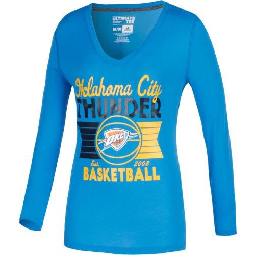 adidas™ Women's Oklahoma City Thunder Long Sleeve Ultimate T-shirt