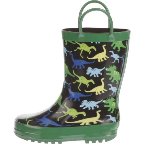 Display product reviews for Austin Trading Co.™ Toddler Boys' Dinosaur Rubber Boots