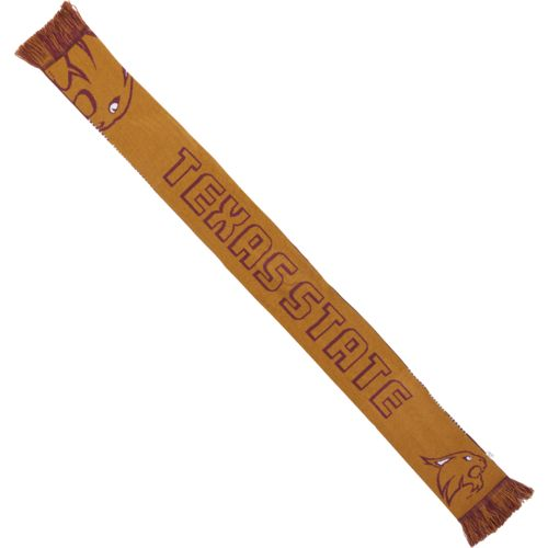 Team Beans Men's Texas State University Reversible Split Logo Scarf