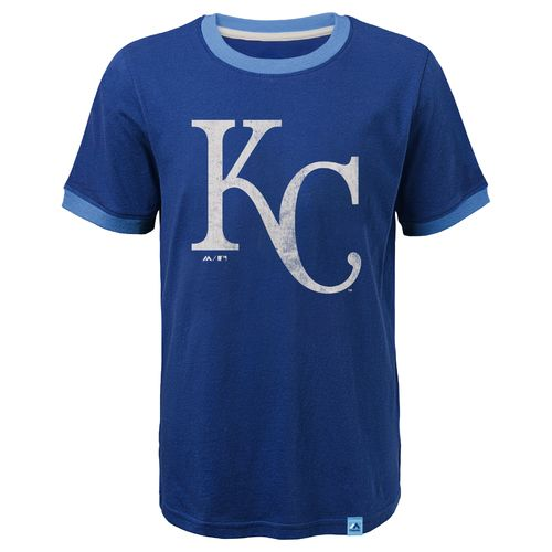Majestic Youth Kansas City Royals Baseball Stripes Ringer T-shirt