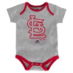 Majestic Infants' St. Louis Cardinals Home Run Onesies 3-Pack - view number 1