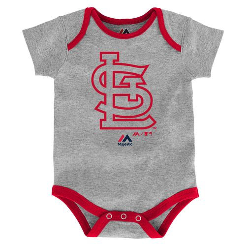 Majestic Infants' St. Louis Cardinals Home Run Onesies 3-Pack