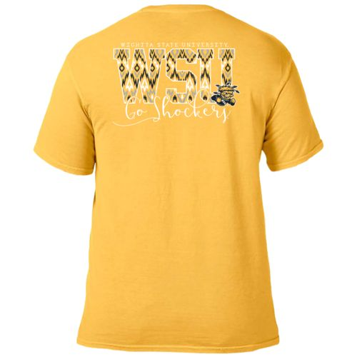 Image One Women's Wichita State University Ikat Letter Script T-shirt