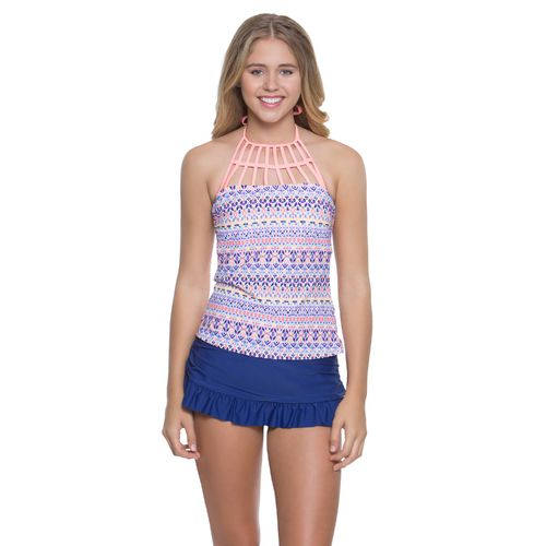 O'Rageous Juniors' Mosaic Madness Halterkini Swim Top