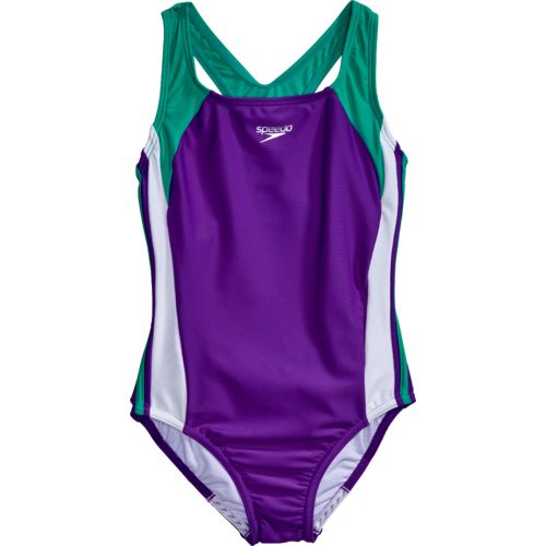 Speedo Girls' Infinity Splice Xtra Life Lycra Fiber Swimsuit