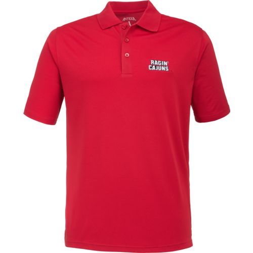 Antigua Men's University of Louisiana at Lafayette Pique Xtra-Lite Polo Shirt