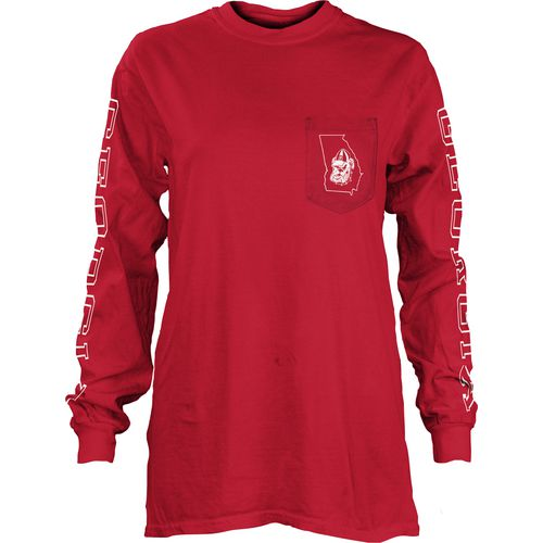 Three Squared Juniors' University of Georgia Mystic Long Sleeve T-shirt