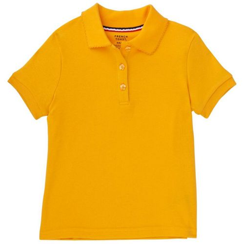 French Toast Girls' Polo Shirt with Picot Collar