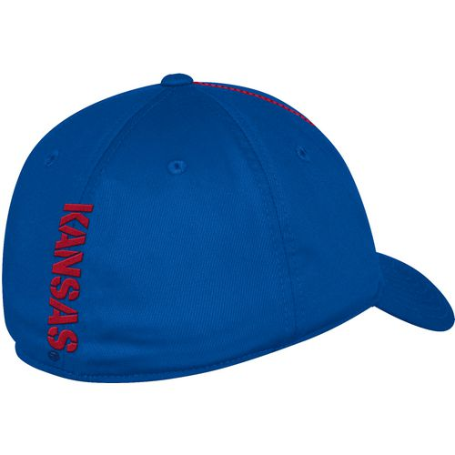 adidas Men's University of Kansas Coach Structured Flex Cap - view number 2