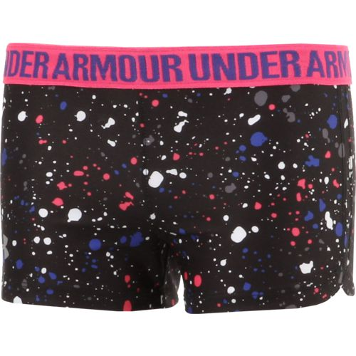 Under Armour Girls' Splatter Play Up Short - view number 3