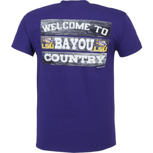 New World Graphics Men's Louisiana State University Welcome Sign T-shirt