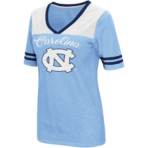 Colosseum Athletics Women's University of North Carolina Twist 2.1 V-Neck T-shirt