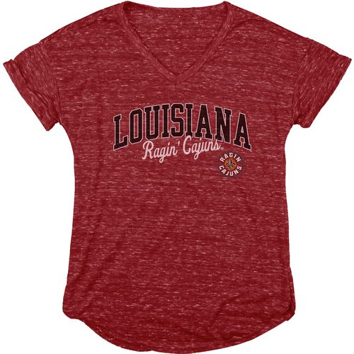 Blue 84 Women's University of Louisiana at Lafayette Dark Confetti V-neck T-shirt