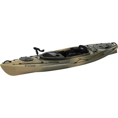 Evoke conquer 100 10 ft camo sit in fishing kayak academy for Fishing kayak academy