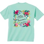 New World Graphics Women's East Tennessee State University Comfort Color Circle Flowers T-shirt - view number 1