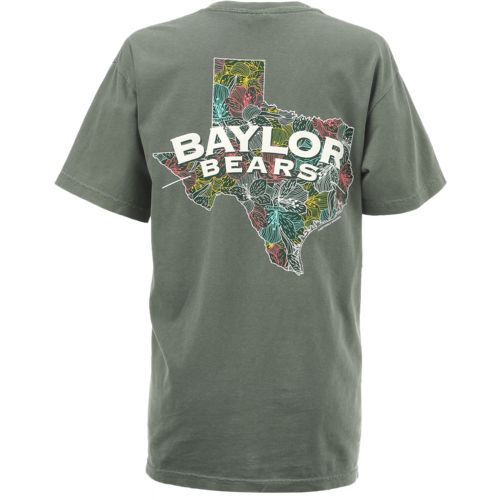 New World Graphics Women's Baylor University Comfort Color Puff Arch T-shirt