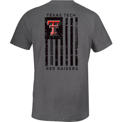 Image One Men's Texas Tech University Comfort Color Distressed Flag T-shirt