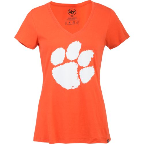 '47 Clemson University Women's Logo Splitter V-neck T-shirt