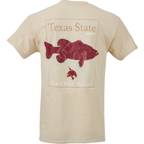 New World Graphics Men's Texas State University Angler Topo Short Sleeve T-shirt