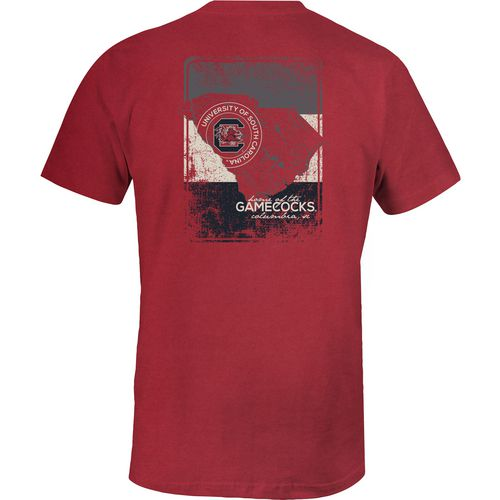 Image One Men's University of South Carolina State Map T-shirt