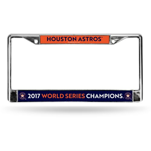 Rico Astros 2017 World  Series Champions License   Plate Frame