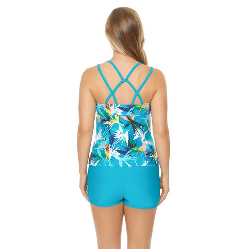 BCG Women's Lost Paradise Tankini Swim Top - view number 1