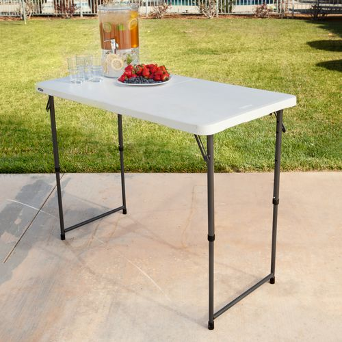 Lifetime 4 ft Light Commercial Adjustable-Height Fold-In-Half Table - view number 4