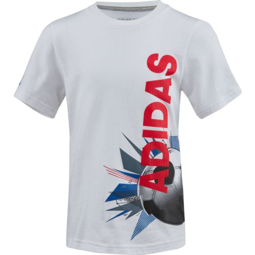 adidas Boys' Collage Ball Wrap T-shirt