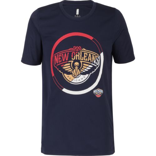 NBA Boys' New Orleans Pelicans Double Slice Performance Short Sleeve T-shirt